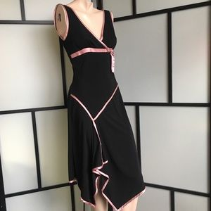 Black & Pink Asymmetrical Dress